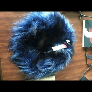 Merona Navy Faux Fur Snood/Circle Scarf NWT